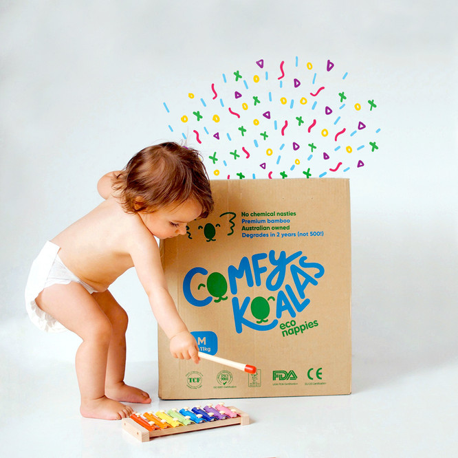 The box apparently makes a great toy.