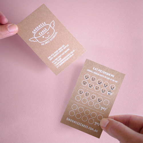 No ordinary loyalty card—customers can choose a free coffee OR cake.