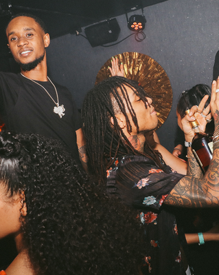 Rae Sremmurd in a VIP booth at Sapphire Nightclub, 1 Fort Lane, Auckland CBD, 1010