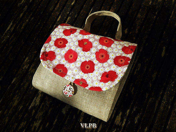 Sac pochette Tea Time Red Poppy