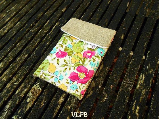 Pochette smartphone lin liberty Poppy & Honesty V