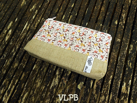 Trousse maquillage lin liberty hedgerow