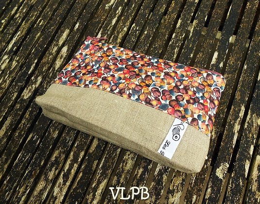 Trousse maquillage lin liberty Winter Ber