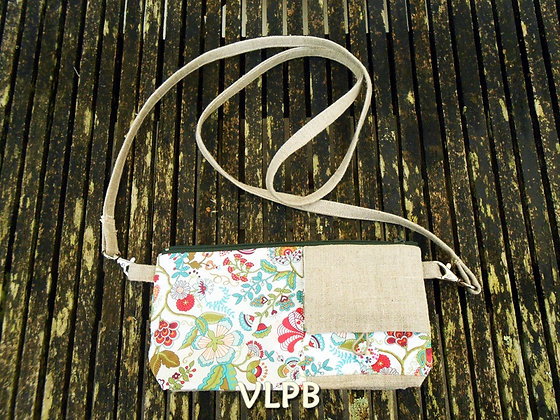 Portefeuille multipoches lin Liberty Mabelle