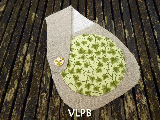 Pochette ceinture lin naturel coton lierre