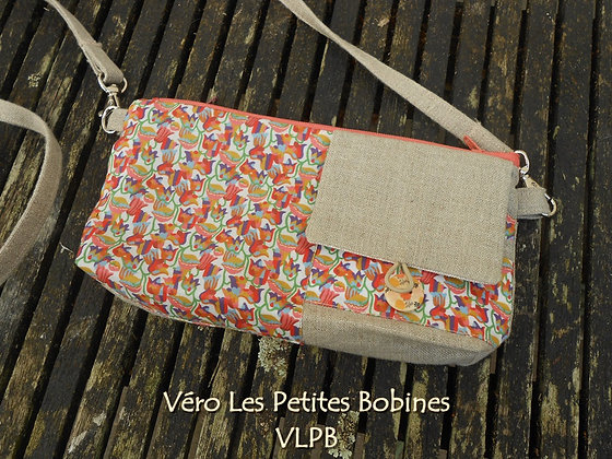 Portefeuille multipoches lin liberty Bella