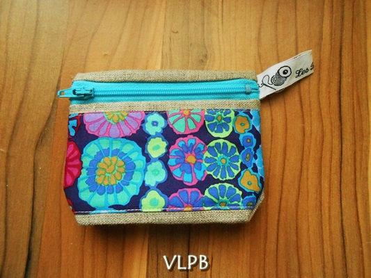 Porte monnaie lin K fassett Bleu