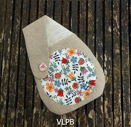 Pochette ceinture lin naturel Liberty Edenham blanc