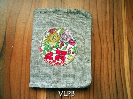 Porte monnaie Porte cartes 2 en 1 lin patchwork de liberty rouge