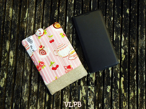 Etui smartphone lin coton gourmandises