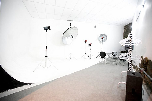 Uma hora de locação do estúdio fotográfico
