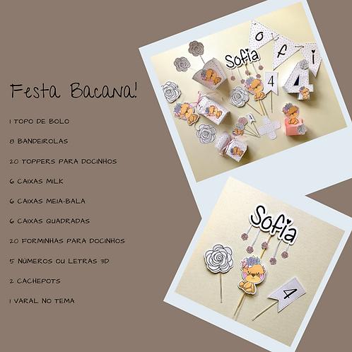 """Kit """"Festa Bacana"""" Ursinha!"""