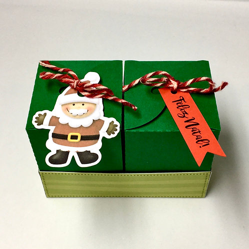 Caixa Dupla de Natal Papai Noel