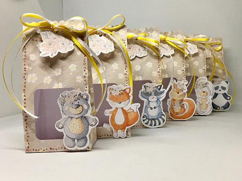 Kit 10 caixas envelope Woodland - Bichinhos Fofos!