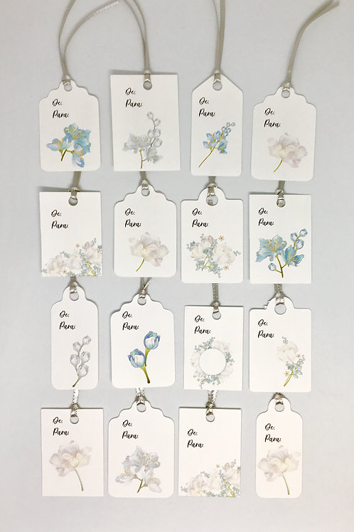 Kit Tags Flores Azuis!