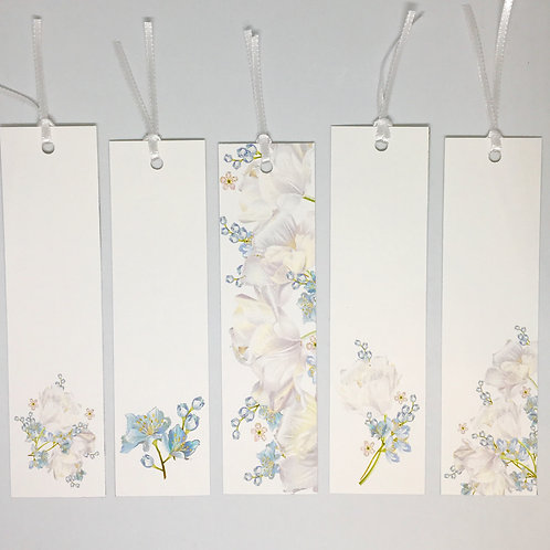 Kit Marcadores de livros Flores Azuis!