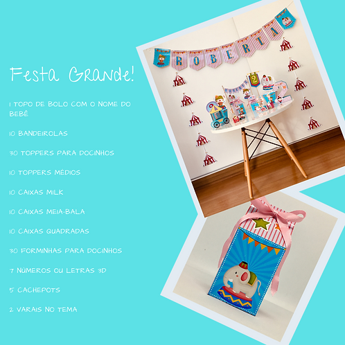 Kit Festa Grande Circo!