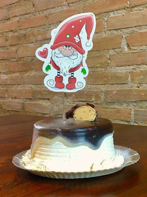 Topo de Bolo Papai Noel Fofo!