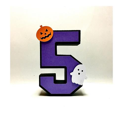 Número 3d Halloween!