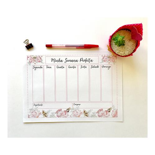 Planner Semanal Flores e Borboletas!