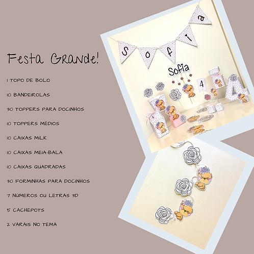 """Kit """"Festa Grande"""" Ursinha!"""