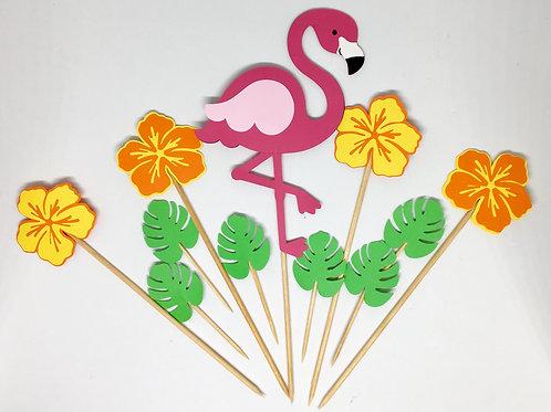 Topo de bolo Flamingo!