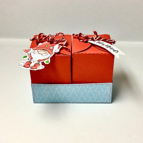 Caixa Dupla de Natal Papai Noel Fofo!