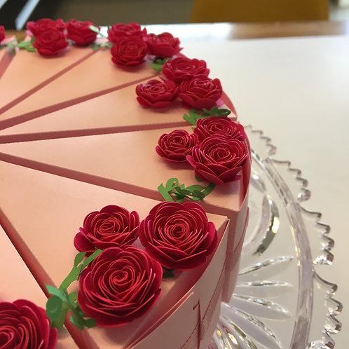 Bolo Lembrança Rosas