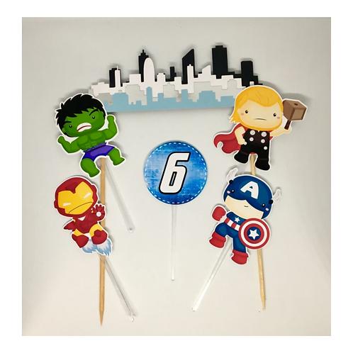 Topo de Bolo Super Heróis Baby!