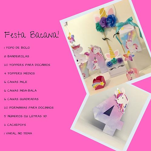 "Kit ""Festa Bacana"" Unicórnio!"