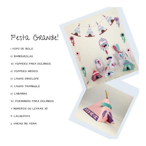 Kit Festa Grande Linha Cabana e Pena!