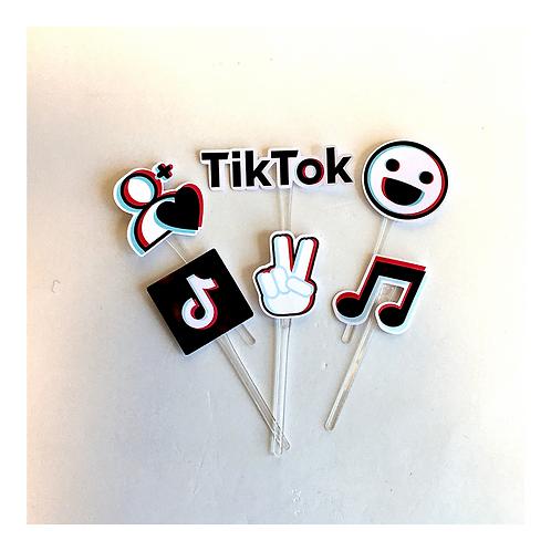 Kit 20 toppers para docinhos TikTok!