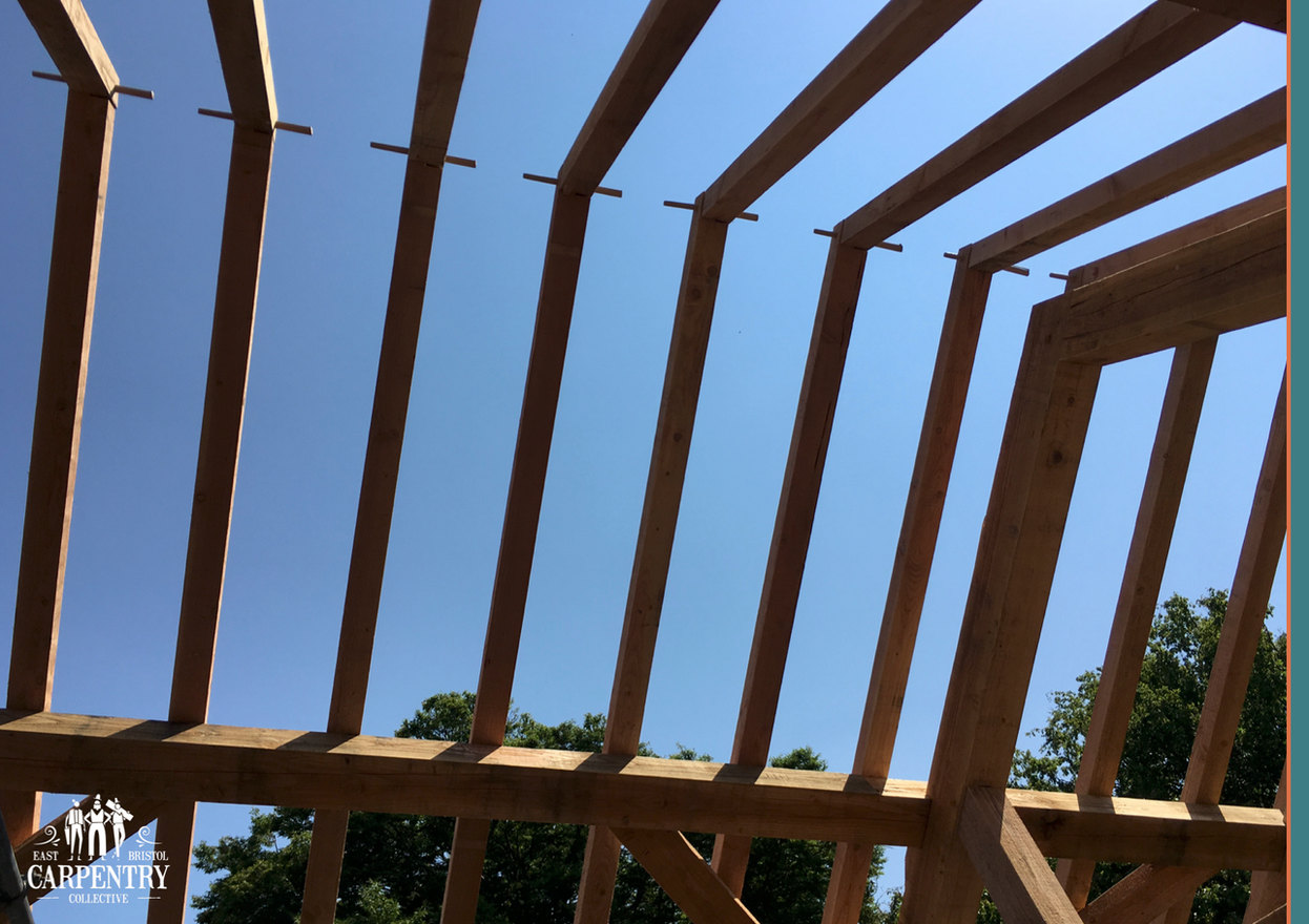 Douglas Fir Framed Rafters