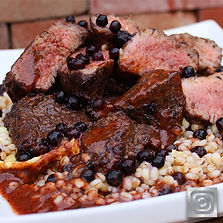 Blueberry Barley & Beef Stew
