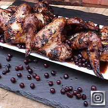 Blueberry Grilled Chicken Wings