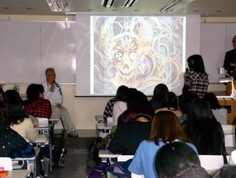 東京デザイナー学院にて原神一の講義