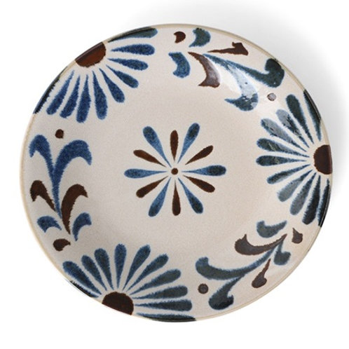 Rustic Blue Floral Plate