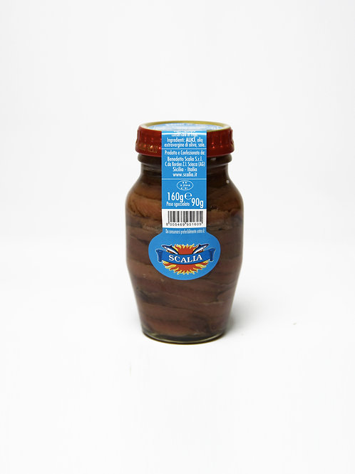 Filetti di Acciughe 160 gr Olio EVO