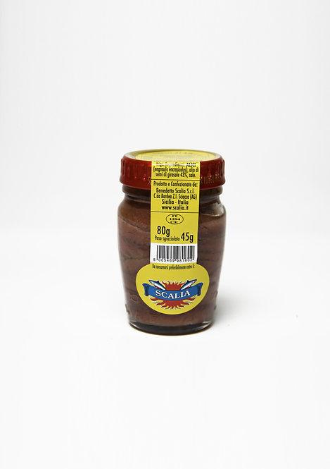 Filetti di acciughe  80 gr Olio di Girasole