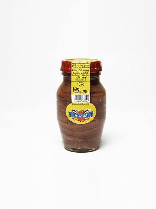 Filetti di acciughe  160 gr Olio di Girasole