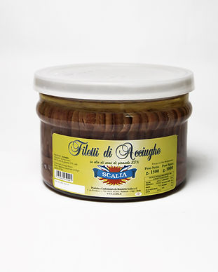 filetti di acciughe olio di semi baratto