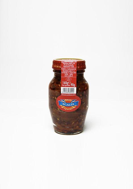 Filetti di acciughe  160 gr al Peperoncino