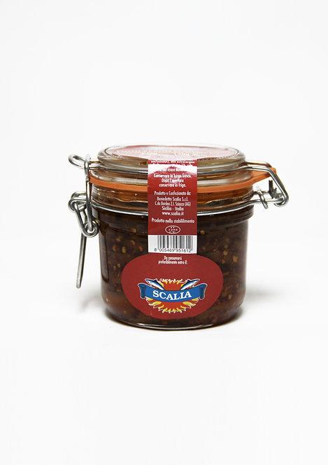 Filetti di acciughe  240 gr al Peperoncino
