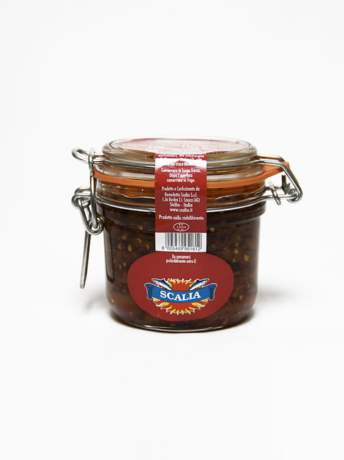 Filetti di acciughe  240 gr al Peperoncino