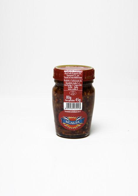 Filetti di acciughe  80 gr al Peperoncino