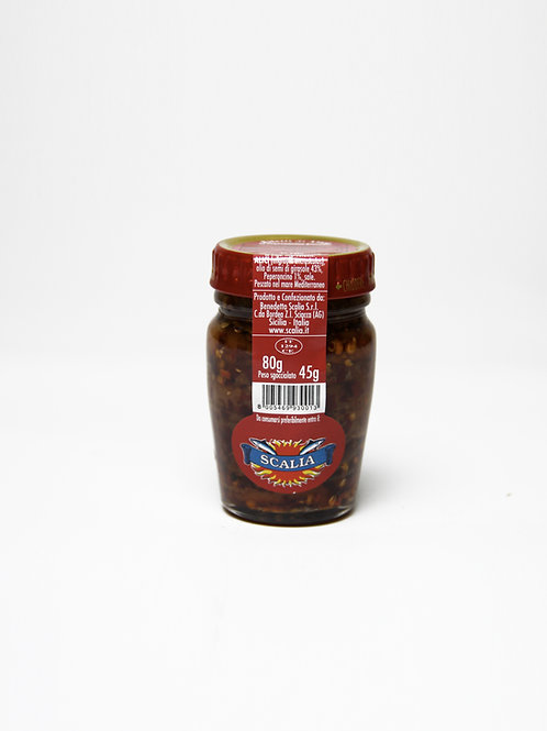 Filetti di acciughe  80 gr al Peperoncino