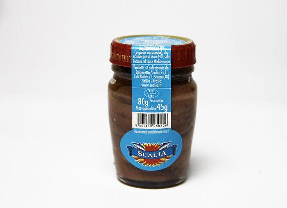 Filetti di acciughe  80 gr - Olio Extravergine di oliva