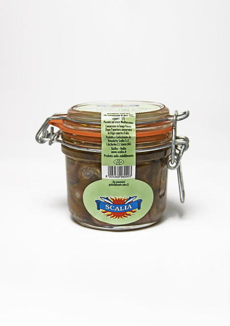 Anchovy fillets 240 gr with capers