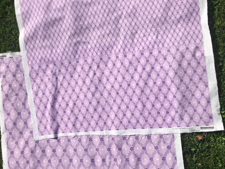 First project - planning a lavender ruffle panelled skirt - fabric selection