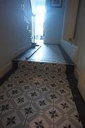 Floor tiling hallway